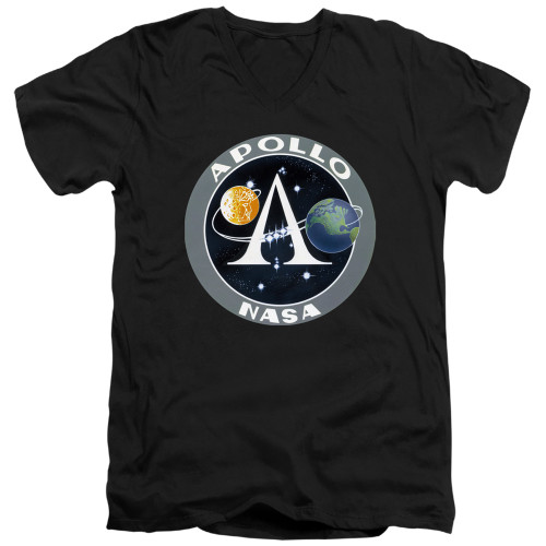 Image for NASA V Neck T-Shirt - Apollo Mission Patch