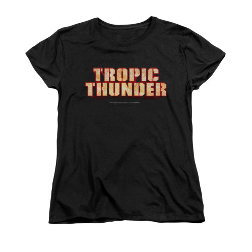 Image for Tropic Thunder Woman's T-Shirt - Title