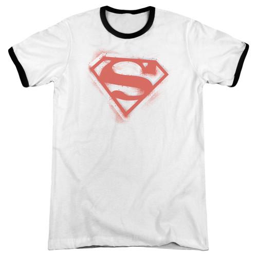 Image for Superman Ringer - Spray Paint Shield