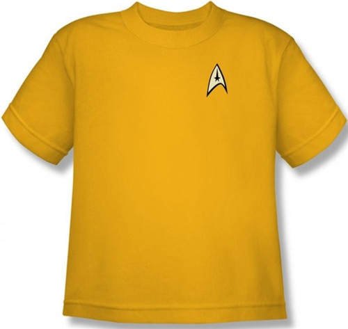 Image for Star Trek Uniform Youth T-Shirt - Command