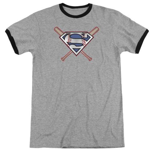 Image for Superman Ringer - Crossed Bats