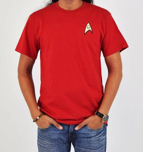 Image Closeup for Star Trek Uniform T-Shirt - Engineering