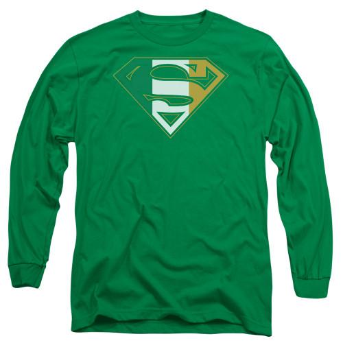 Image for Superman Long Sleeve T-Shirt - Irish Shield Logo