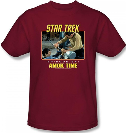 Image Closeup for Star Trek Episode T-Shirt - Episode 34 Amok Time