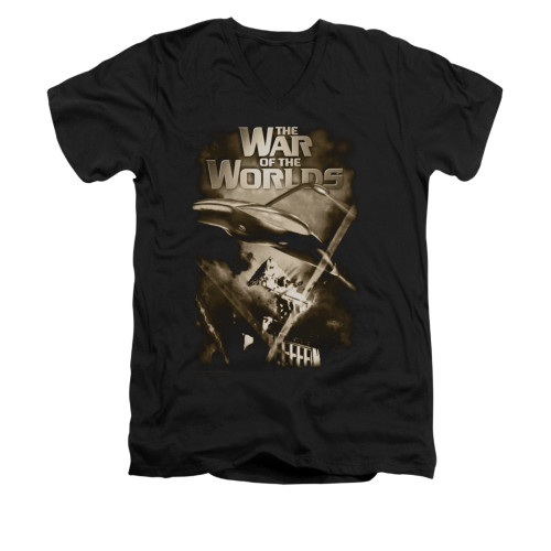 Image for War of the Worlds V-Neck T-Shirt - Death Rays