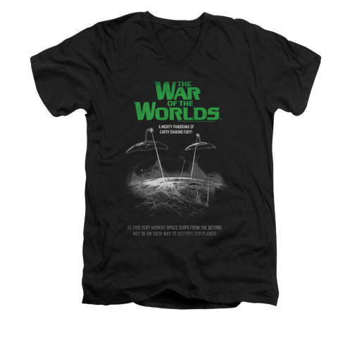 Image for War of the Worlds V-Neck T-Shirt - Attack Poster