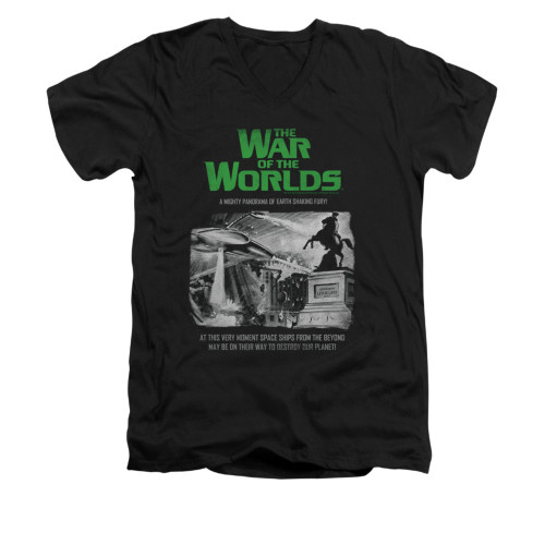 Image for War of the Worlds V-Neck T-Shirt - Attack People Poster
