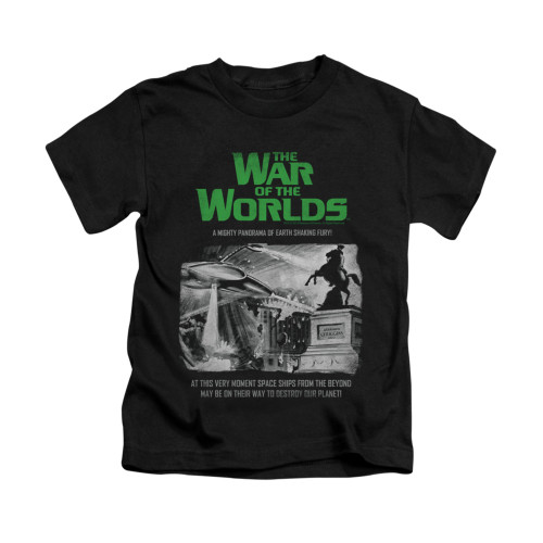 Image for War of the Worlds Kids T-Shirt - Attack People Poster