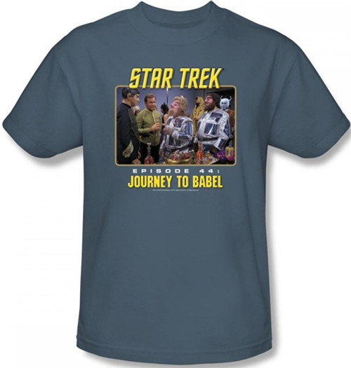 Image Closeup for Star Trek Episode T-Shirt - Episode 44 Journey to Babel