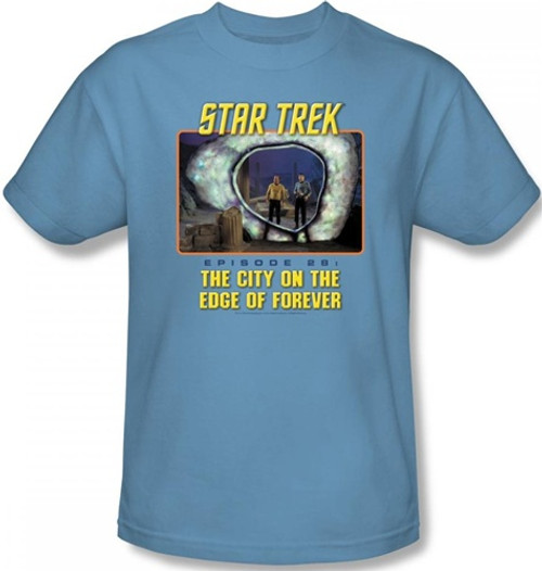 Image Closeup for Star Trek Episode T-Shirt - Episode 28 The City on the Edge of Forever