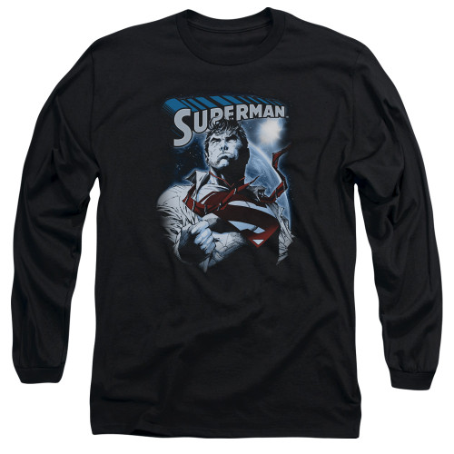 Image for Superman Long Sleeve T-Shirt - Protect Earth