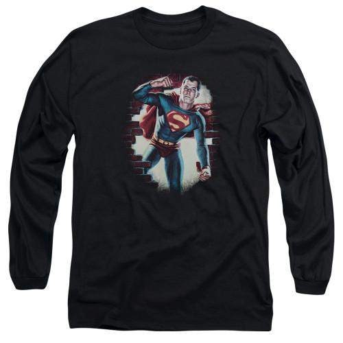 Image for Superman Long Sleeve T-Shirt - Vintage Steel
