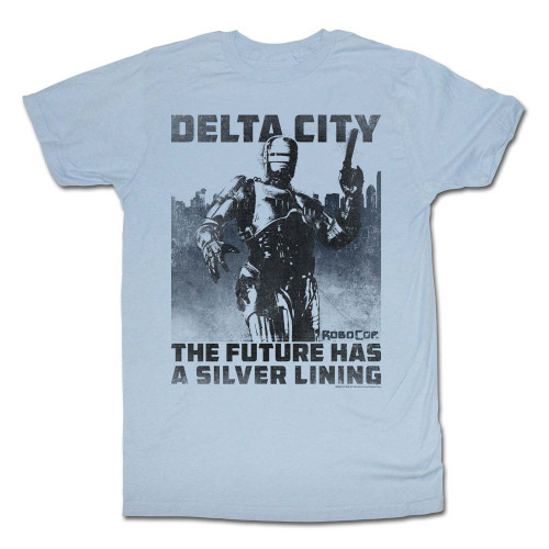 Image for Robocop T-Shirt - Delta City the Future Has a Silver Lining