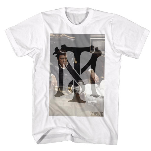 Image for Scarface T-Shirt - Tony Montana Monogram