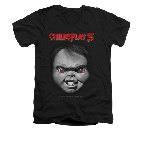 Image for Child's Play V-Neck T-Shirt - Face Poster
