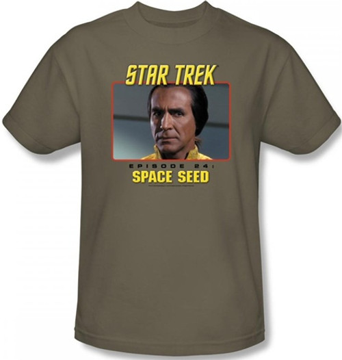 Image Closeup for Star Trek Episode T-Shirt - Episode 24 Space Seed