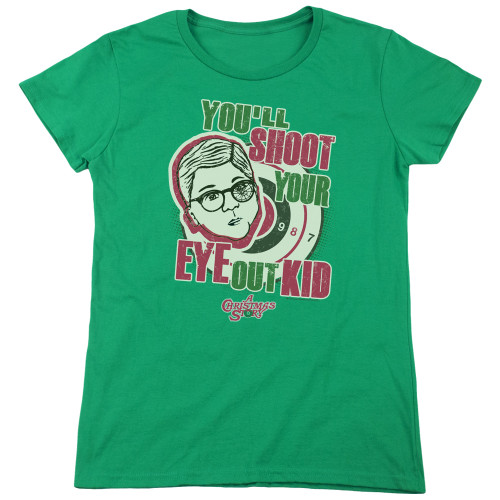 Image for A Christmas Story Woman's T-Shirt - You'll Shoot Your Eye Out