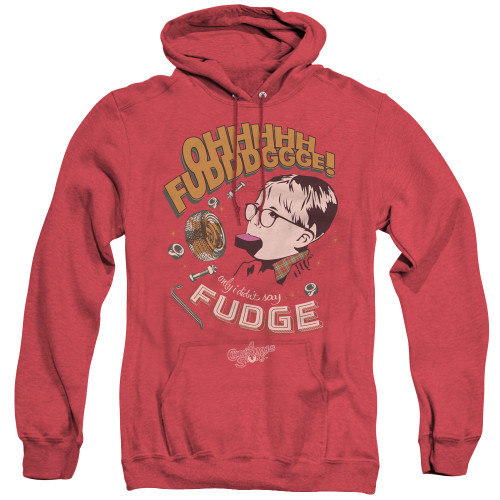 Image for A Christmas Story Heather Hoodie - Fudge