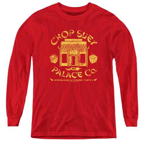 Image for A Christmas Story Youth Long Sleeve T-Shirt - Chop Suey Palace Co