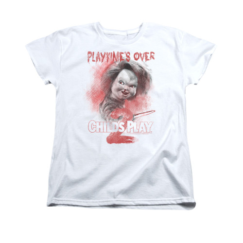 Image for Child's Play Woman's T-Shirt - Play Time's Over