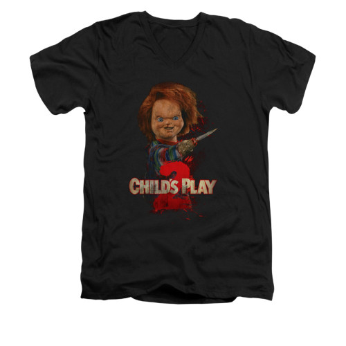 Image for Child's Play V-Neck T-Shirt - Here's Chucky