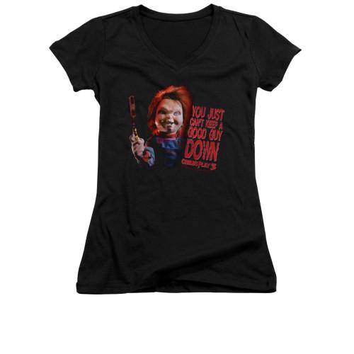 Child's Play Girls V Neck T-Shirt - Good Guy
