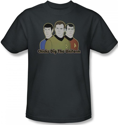 Image Closeup for Star Trek T-Shirt - Chicks Dig the Uniform