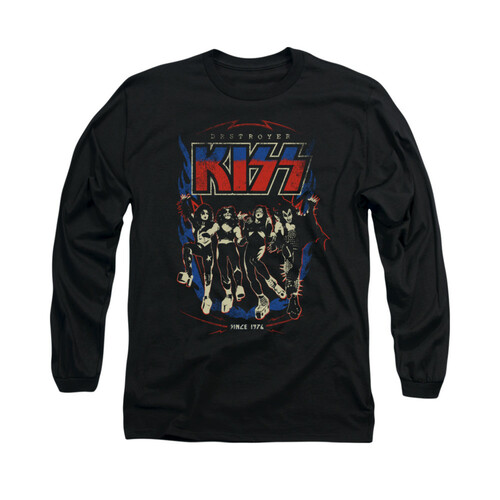 Image for Kiss Long Sleeve T-Shirt - Destroyer