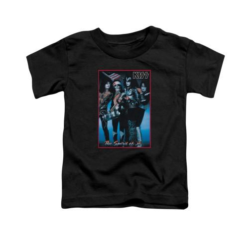 Image for Kiss Toddler T-Shirt - Spirit of '76