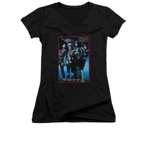 Image for Kiss Girls V Neck T-Shirt - Spirit of '76
