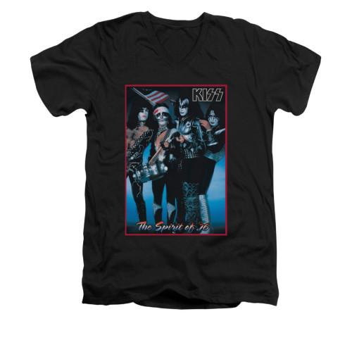 Image for Kiss V-Neck T-Shirt - Spirit of '76