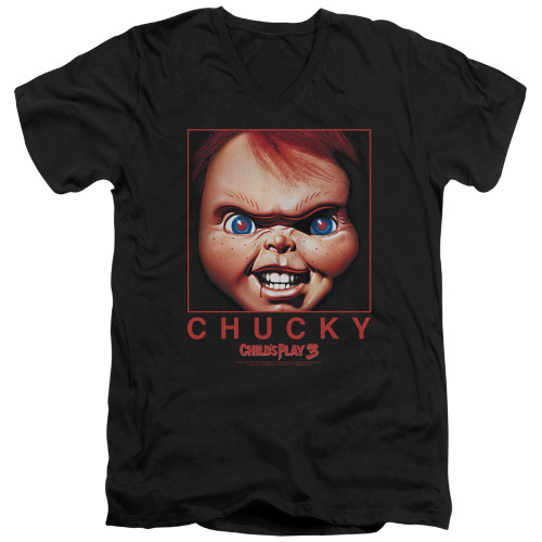 Image for Child's Play V-Neck T-Shirt Chucky Squared