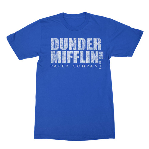 Image for The Office Dunder Mifflin Distressed Logo T Shirt