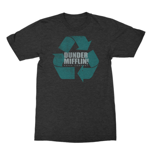 Image for The Office Dunder Mifflin Distressed Recycle Logo T Shirt