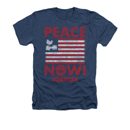 Image for Woodstock Heather T-Shirt - Peace Now