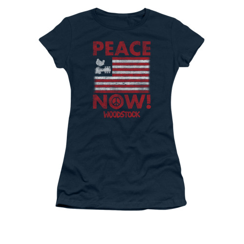 Image for Woodstock Girls T-Shirt - Peace Now