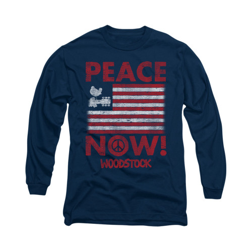 Image for Woodstock Long Sleeve T-Shirt - Peace Now