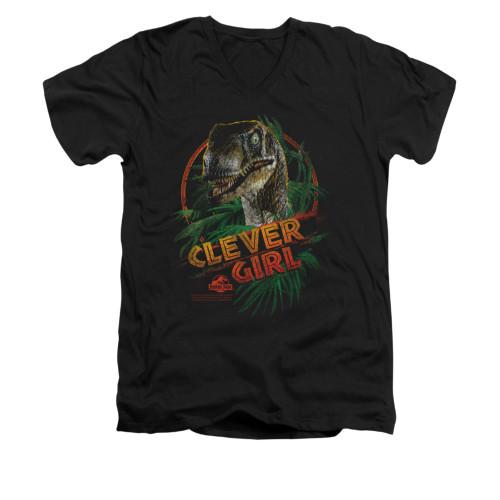 Jurassic Park V-Neck T-Shirt - Clever Girl