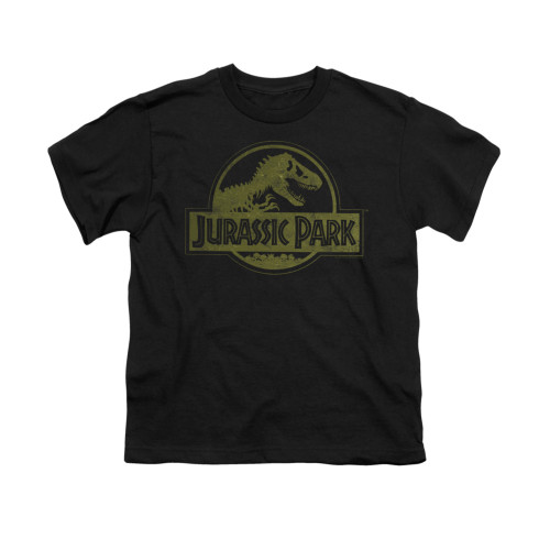 Image for Jurassic Park Youth T-Shirt - Distressed Logo
