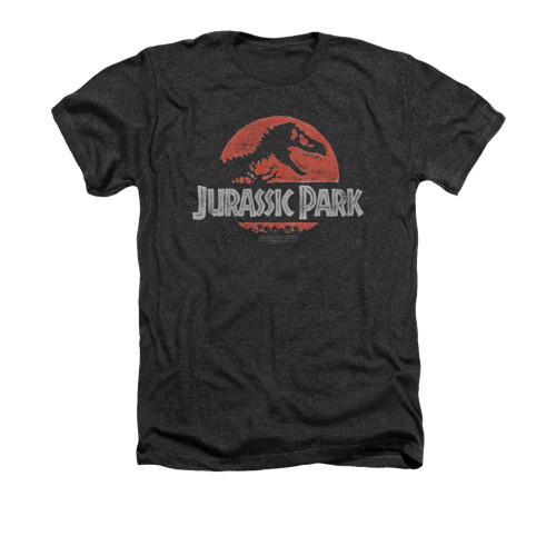 Image for Jurassic Park Heather T-Shirt - Faded Logo