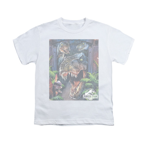 Image for Jurassic Park Youth T-Shirt - Giant Door