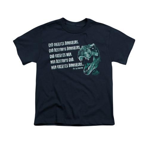 Image for Jurassic Park Youth T-Shirt - God Creates Dinosaurs
