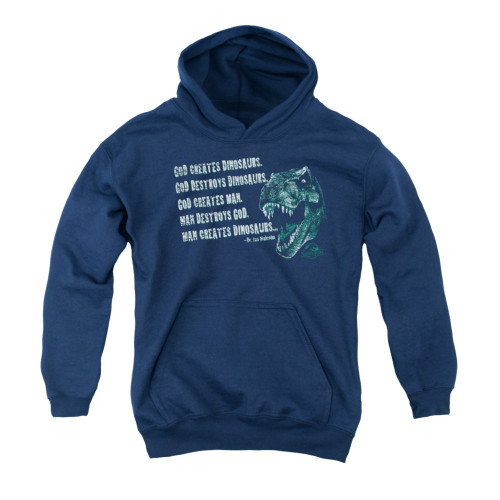 Image for Jurassic Park Hoodie - God Creates Dinosaurs