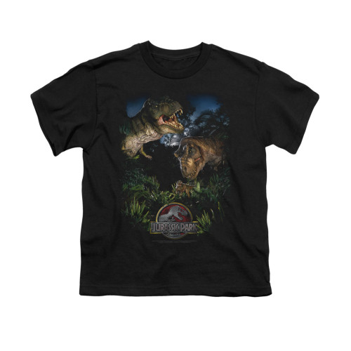 Image for Jurassic Park Youth T-Shirt - Happy Family