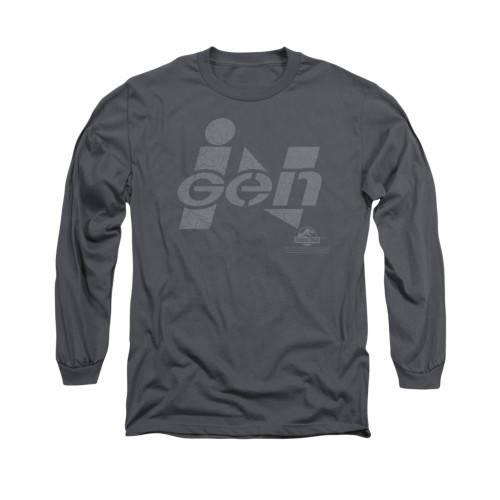 Image for Jurassic Park Long Sleeve T-Shirt - Ingen Logo