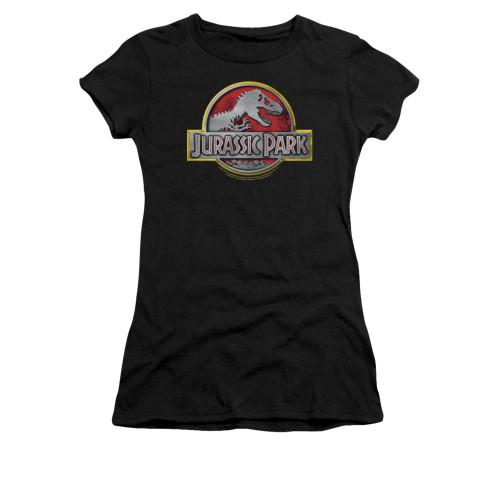 Image for Jurassic Park Girls T-Shirt - Logo