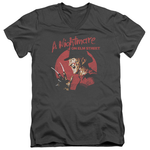 Image for A Nightmare on Elm Street V-Neck T-Shirt Freddy Circle
