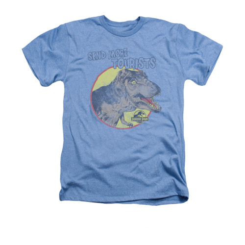 Image for Jurassic Park Heather T-Shirt - More Tourists