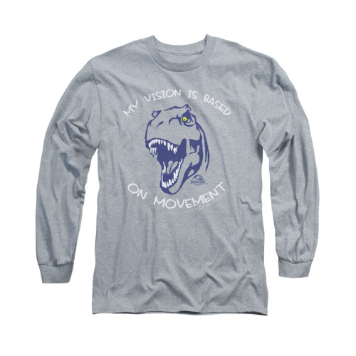 Image for Jurassic Park Long Sleeve T-Shirt - My Vision is Based on Movement