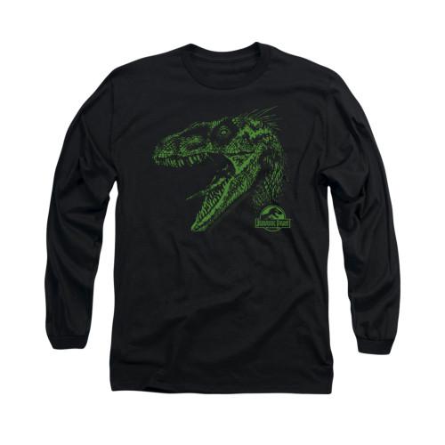 Image for Jurassic Park Long Sleeve T-Shirt - Raptor Mount
